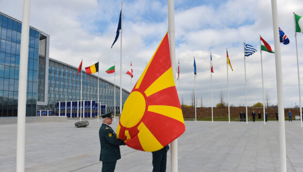 Ceremony to mark the accession of North Macedonia to NATO