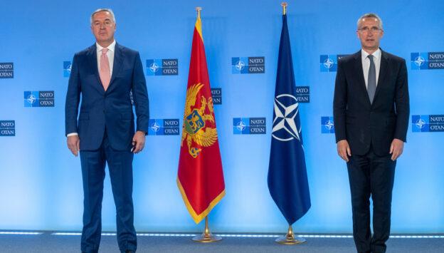 The President of Montenegro visits NATO